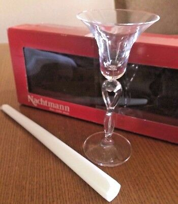 Two Lead Crystal Nachtmann Cherish Couple Kissing Candle Holder Made In Germany