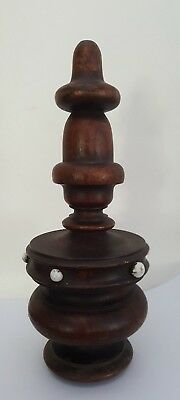 Antique Turned Wood Finial ?