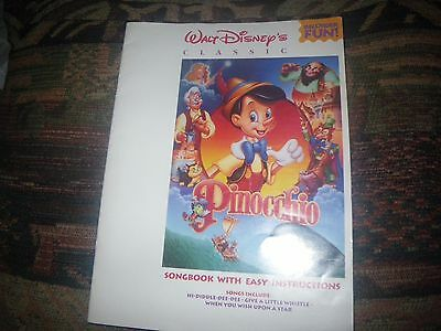 1992 Walt Disney's Classic Pinocchio Recorder Songbook When You Wish Upon A Star