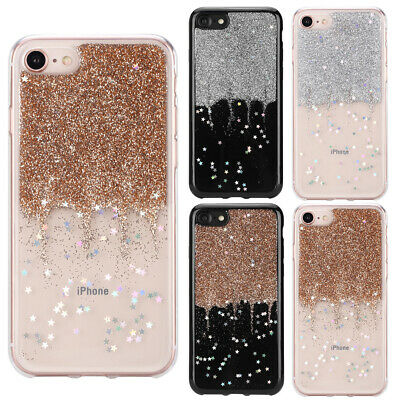 Pour Samsung iPhone Huawei Coque Housse en TPU Silicone Luxe Paillettes Brillant