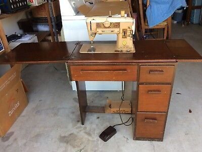 40'S SINGER 40A STANTOMATIC Sewing Machine With Cabinet No40 Magnificent Singer Sewing Machine Cabinet 1960