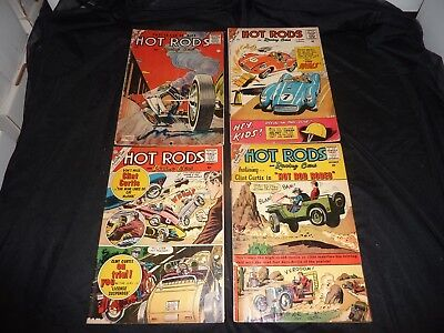 HOT RODS AND RACING CARS Charlton Lot of 4 Silver Age #29 41 47 49