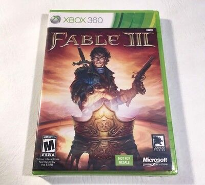 Fable III 3 Microsoft XBOX 360/One Video Game Brand New Factory Sealed Mature