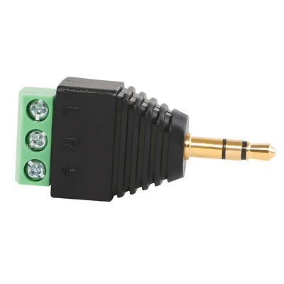 3.5mm 1/8'' 3 Pole Male to AV 3-Screw Video Terminal audio Adapter Excellent AU
