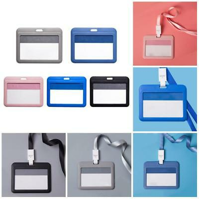 1x ID Badge Card Holder Business Security Pass Tag Holder with Lanyard