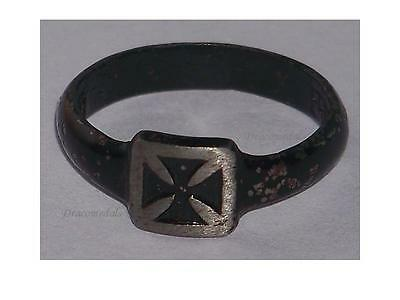 Germany WWI Ring Patriotic Iron Cross EK1 1914 1915 Trench Art German Prussia