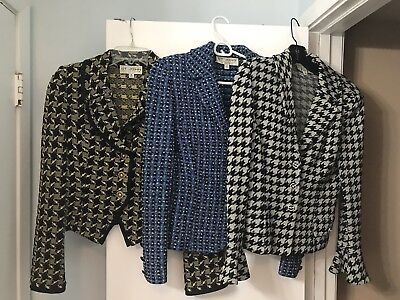 ST. JOHN COLLECTION BY MARIE GRAY SIZE 2 Three JACKET Lot FASTENING BUTTON