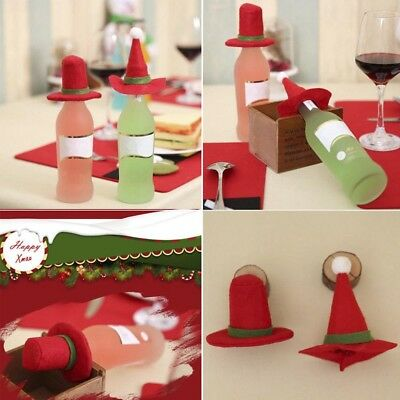 New Merry Christmas Santa Wine Bottle Bags Cover Xmas Dinner Party Table Decor