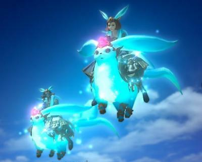 FINAL FANTASY XIV FFXIV FF14 Mount Aquamarine Carbuncle (Account-Wide)