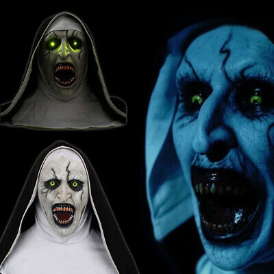 THE NUN MASK with Glowing Eyes & Horror Audio Voice Control