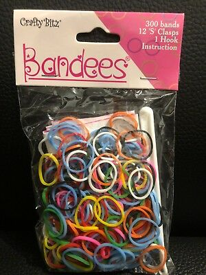 900x Rainbow Loom Refill Bands DIY Braided Rubber Bracelets Bangle Clips - #A34