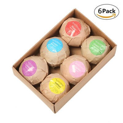 60g*6PCS Bath Salt Bombs Balls Whitening Moisture Essential Oil Body Scrub