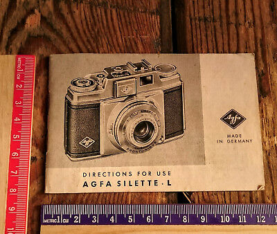 Manual for Agfa Silette L - Good Condition