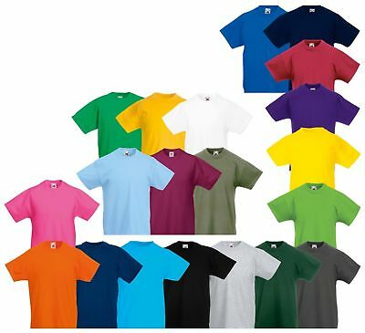Fruit Of The Loom Boys Girls Kids t Shirts Plain Crew Neck Cotton t Shirts