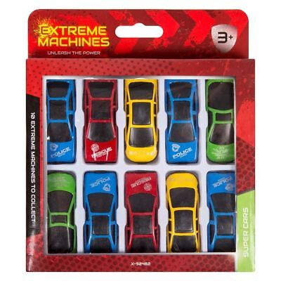 10x DIE CAST CARS Children's Kids Metal Hot Rods Toy Vehicle Sports F1 Play Set