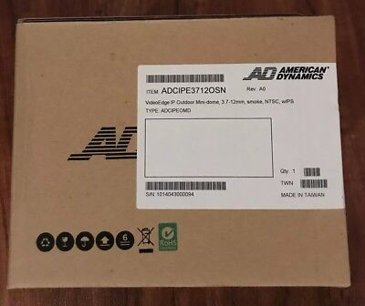 American Dynamics ADCIPE3712OSN - VideoEdge - Outdoor mini-dome-New in Box