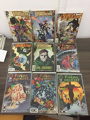 Day Of Judgement DC #1-5 / Final Night #1-4 Complete Run NM JLA Superman Batman