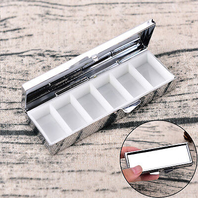 Mini Travel Metal Pill Box Medicine Drug Vitamin Tablet Organizer Box ZJH