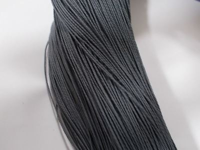80m 1.5mm POLYESTER WAXED Jewelry Macrame Sewing Craft Wax Cord String GREY S01