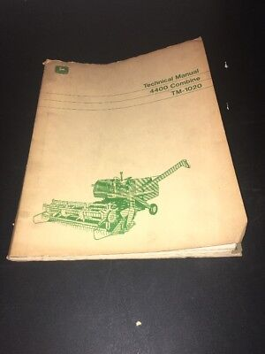 John Deere 4400 Combine TM-1020 Technical Manual 1969