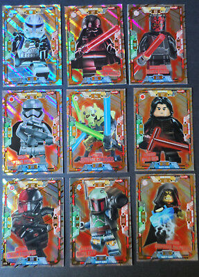 Lego Star Wars Series 1 Limited Edition Cards Le2 To Le19 & Gold Cards