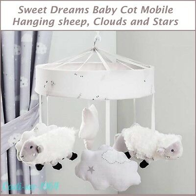NEW Sweet Dreams Sheep Baby Cot Mobile Baby Nursery Bedding Farm Animal Mobile