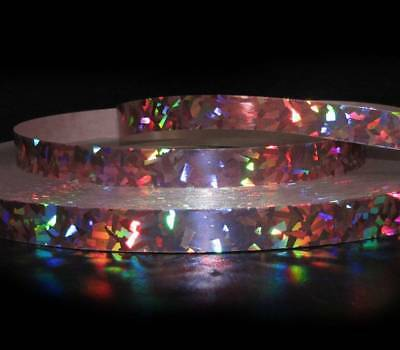 10 Yds Reflective Green Color Changing Crystal CRACKLE Waterproof Acetate Ribbon