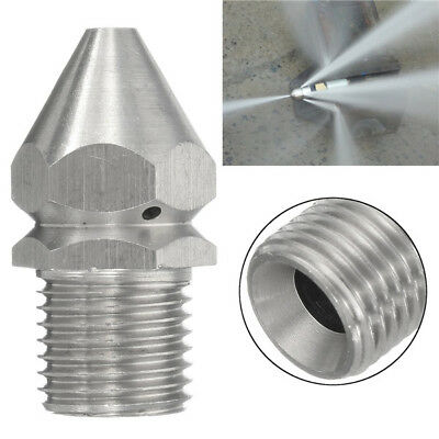 Pressure Washer Drain Sewer Cleaning Jetter Nozzle 4 Jet 1/4 Inch Male