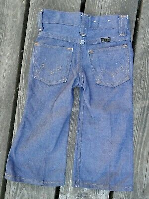 RARE Vtg 1950s 1960s MAVERICK Denim Jeans Toddler RETRO baby 2T bootcut USA