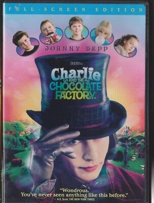 1x Used -  DVD - CHARLIE AND THE CHOCOLATE FACTORY