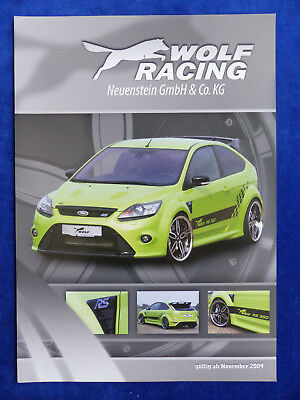 Wolf Racing Ford Focus RS 360 PS MJ 2010 - Prospekt Brochure 11.2009