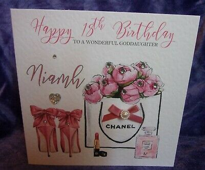 Personalised Birthday Card 16th 18th 21st 25th 30th Granddaughter Daughter Niece