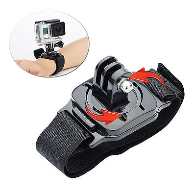 360 for Gopro Degree Rotate Wrist Strap Arm Mount Hero 5 4 3+ Sj4000 Accessories