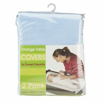 Sweet Dreams Change Table Mattress Cover 2 Pack - Sky