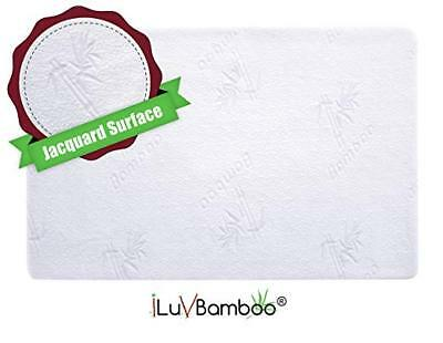 Crib Mattress Protector Waterproof Pad Cover Silky Soft Jacquard Fitted Topper