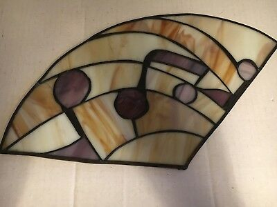 Vintage Stained Glass Window Picture Music Notes