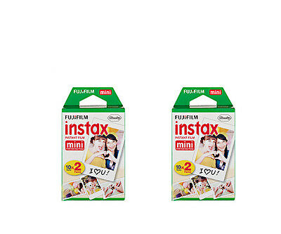 2 Pack Fijifilm Instax Total 40Pcs Instant  For Mini8 7s 25 90 50s Fresh 05/2020