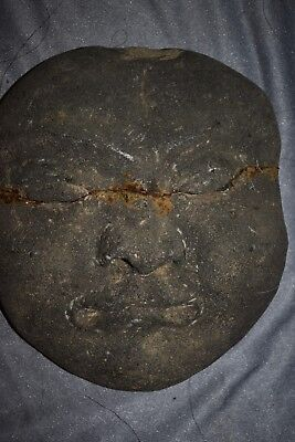 "ORIG $699 CHINESE PREHISTORIC BURIAL MASK 14"" prov"