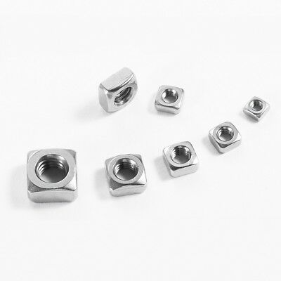 Square Nuts A2 Stainless Steel To Fit Metric Coarse Bolts/screws M3M4M5M6M8M10