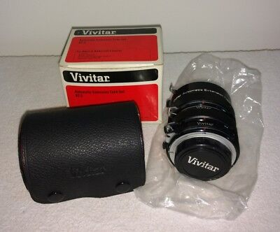 VTG Vivitar AT-3 Automatic Extension Tube Set-FOR NIKON F series-12MM-20MM-36MM