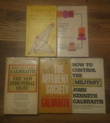 lot of 5 Paperbacks the new industrial state affluent society community power..