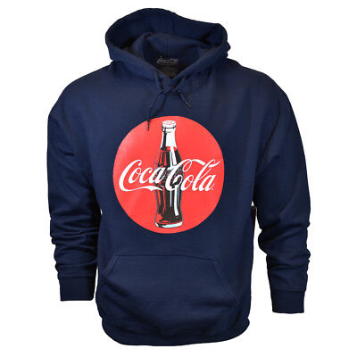 COCA COLA Mens 2XL 3XL Pullover Hoodie Sweater Vintage Graphic Logo NEW Cotton