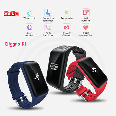 Smart Watch Bracelet Wristband Health Tracker Call SMS Reminder For Android IOS