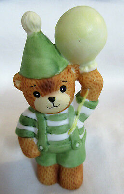Lucy & Me ~ Boy in Green Stripes with Balloon Party Hat ~ Figurine