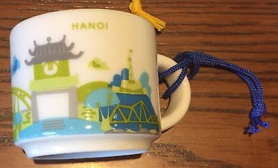 Starbucks HANOI, VIETNAM (YAH You Are Here) Demitasse 2 oz Mug Ornament NEW