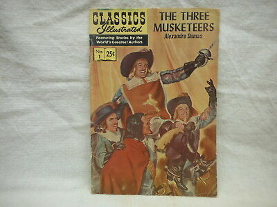 """Classic Illustrated """"the Three Musketeers"""" #1  Comic Book*"""