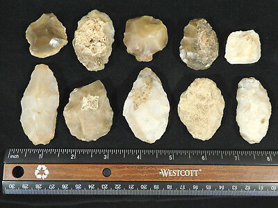 A BIG Lot of 55,000 to 12,000 Year Old Early Man Aterian Arifacts Algeria! 211gr