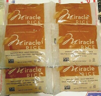 (6 Pack of Rice) Miracle Noodle Rice Zero Carb Gluten Free Shirataki Pasta 8 Oz