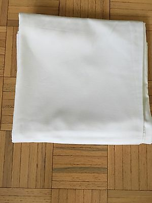 """White tablecloths for catering or restaurant 52""""x52""""."""