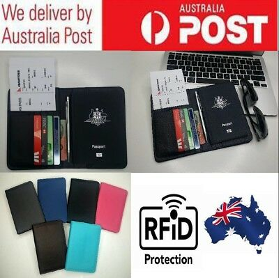 Travel Wallet Passport Holder RFID Anti Scan Premium Leather RFID Blocking